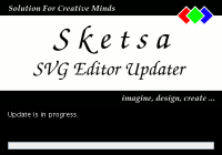 Sketsa SVG Editor updater splash