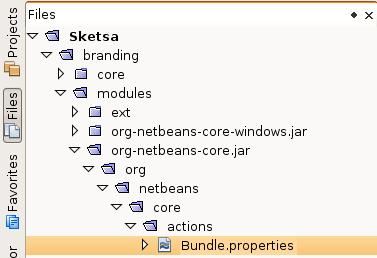 Netbeans Branding folder