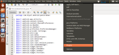 Netbeans in Ubuntu Unity Global Menu